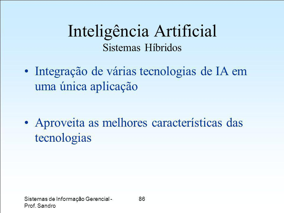 Inteligência Artificial Sistemas Híbridos