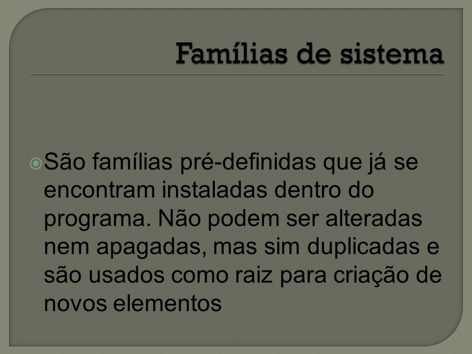 Famílias de sistema