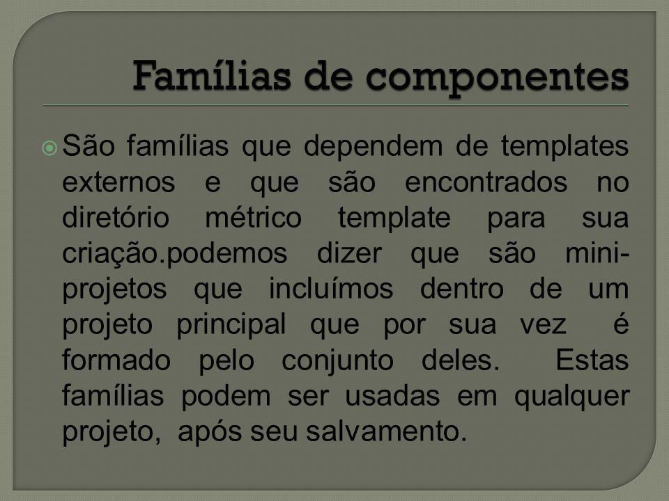 Famílias de componentes