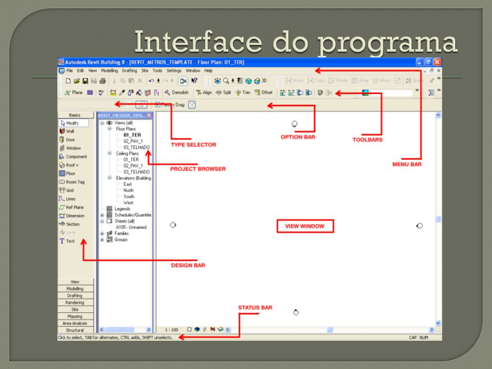 Interface do programa