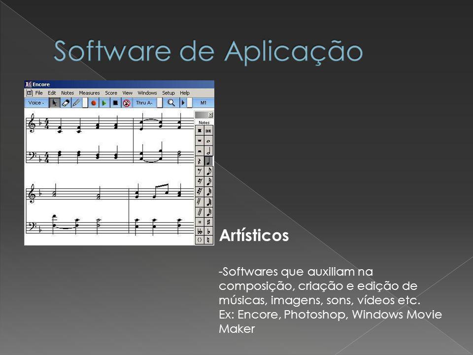 Software de Aplicação Artísticos