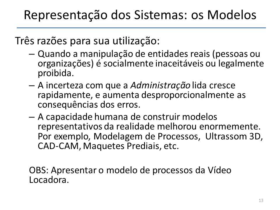 Representação dos Sistemas: os Modelos