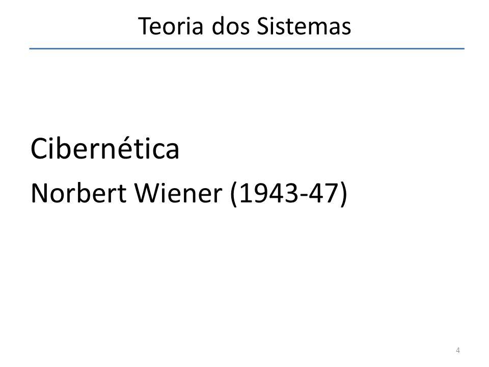 Teoria dos Sistemas Cibernética Norbert Wiener (1943-47)