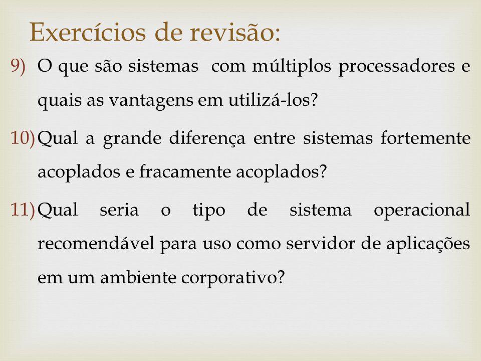Exercícios de revisão: