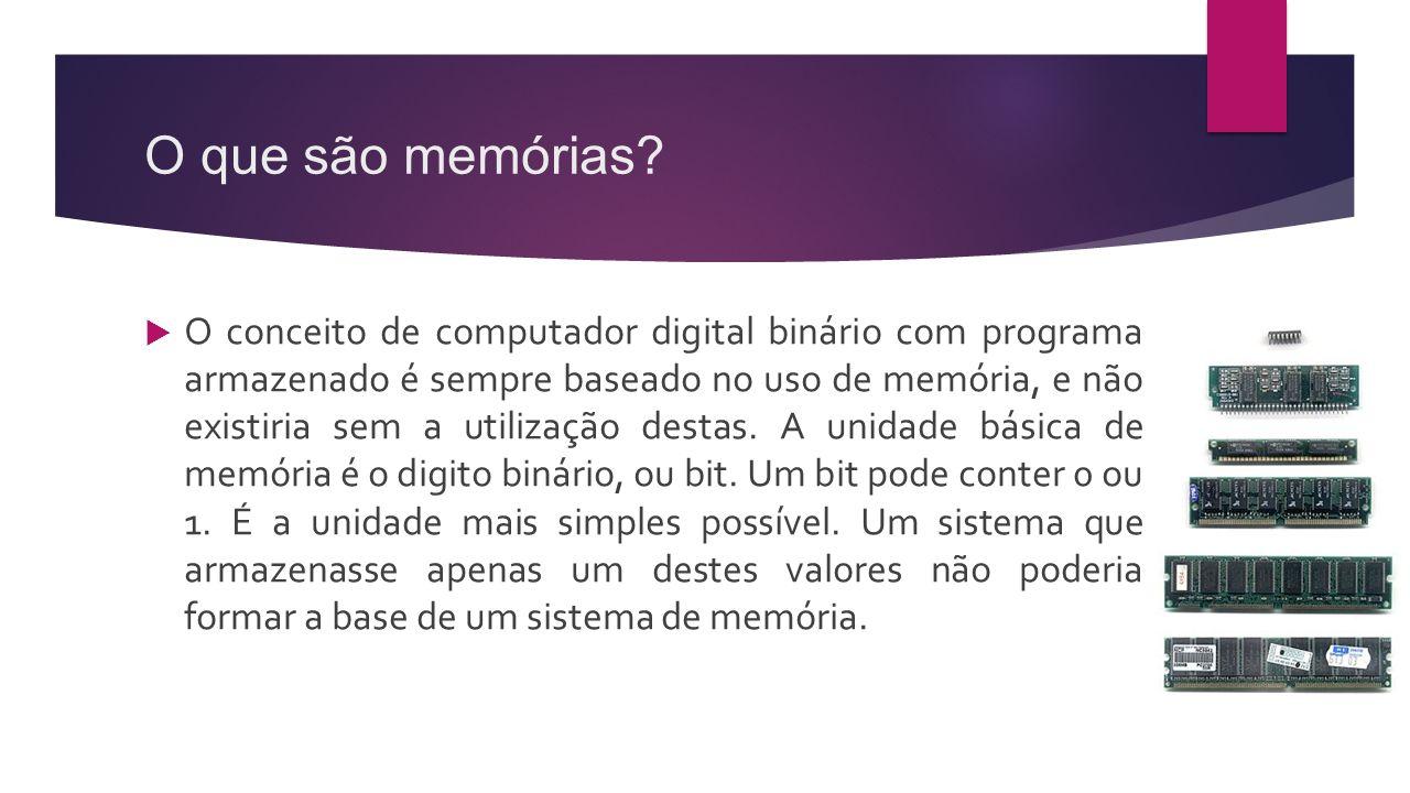 O que são memórias