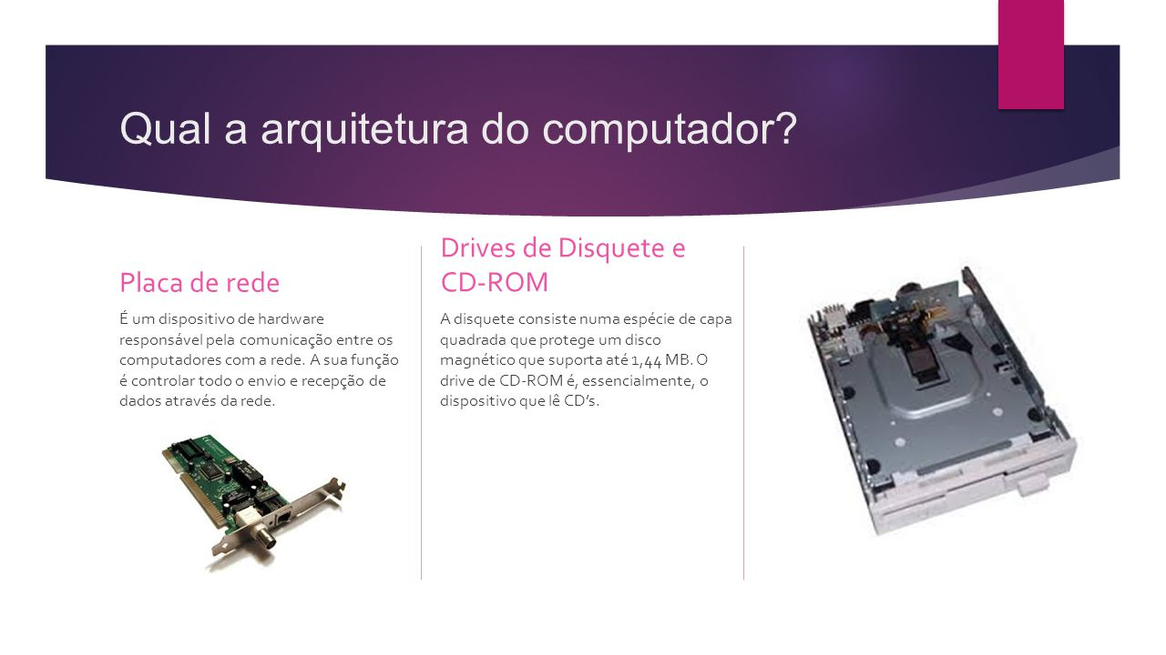Qual a arquitetura do computador