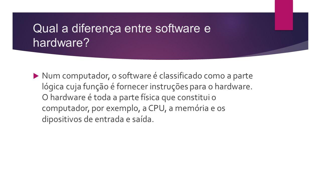 Qual a diferença entre software e hardware