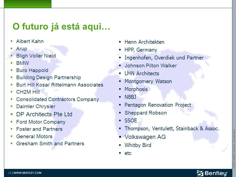 O futuro já está aqui… DP Architects Pte Ltd Volkswagen AG Albert Kahn