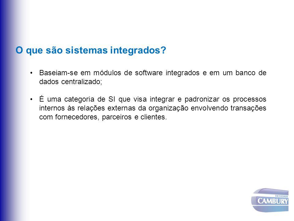 O que são sistemas integrados