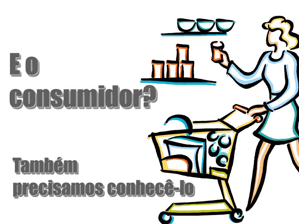 E o consumidor Também precisamos conhecê-lo