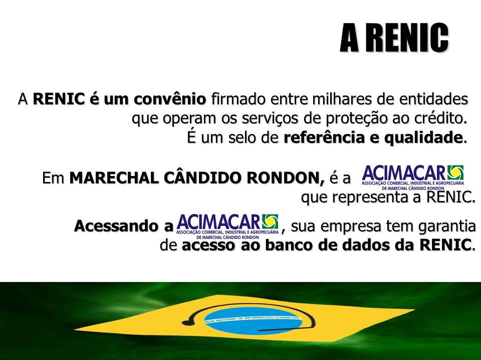 A RENIC A RENIC é um convênio firmado entre milhares de entidades