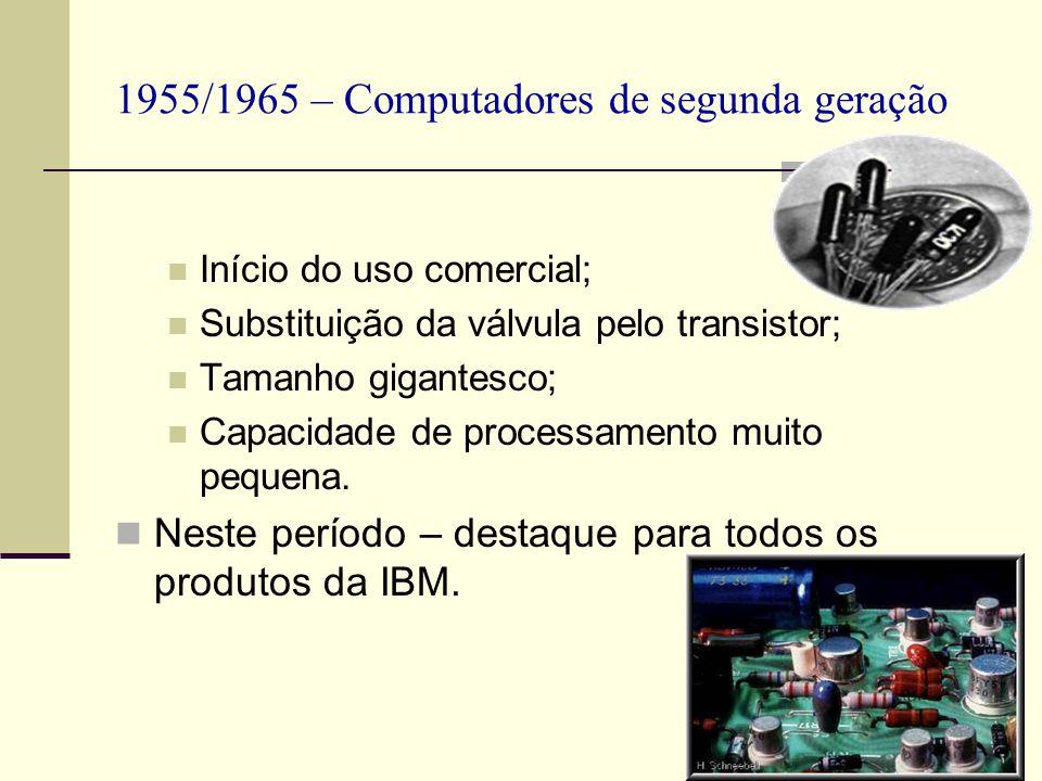 1955/1965 – Computadores de segunda geração