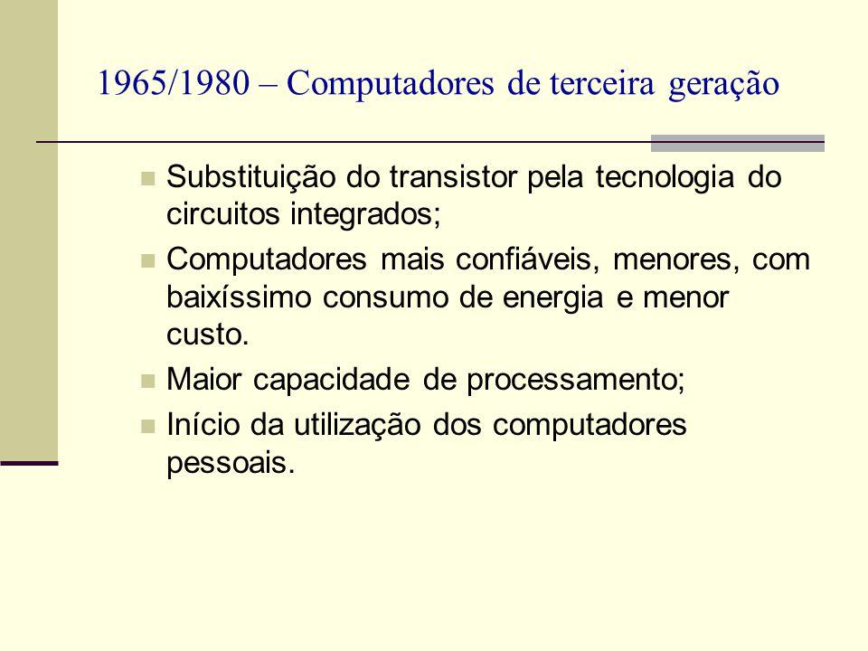 1965/1980 – Computadores de terceira geração