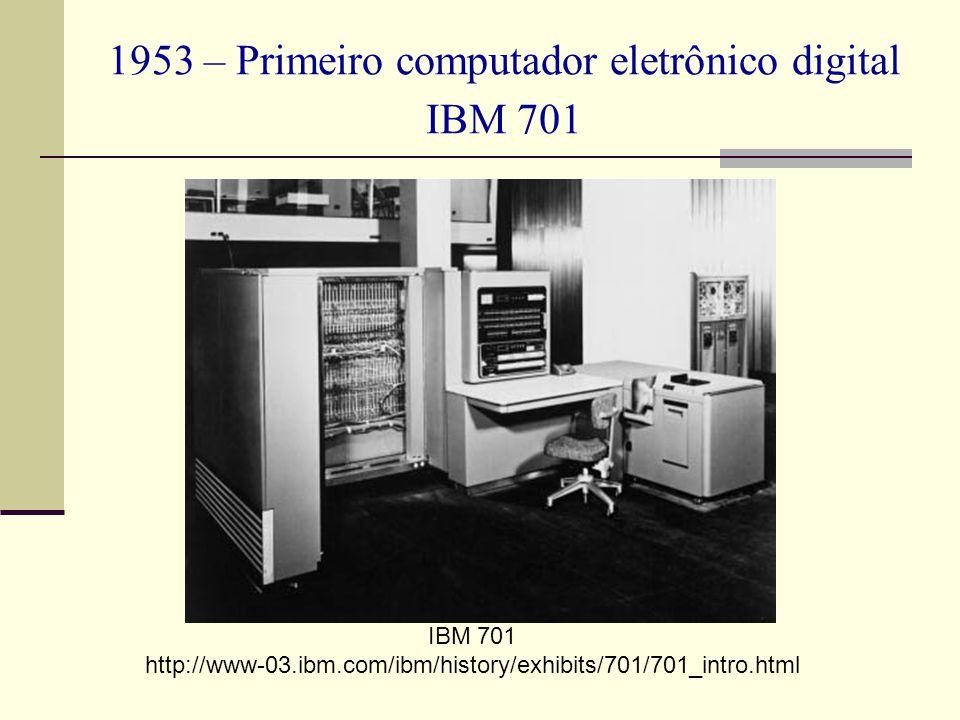 1953 – Primeiro computador eletrônico digital IBM 701