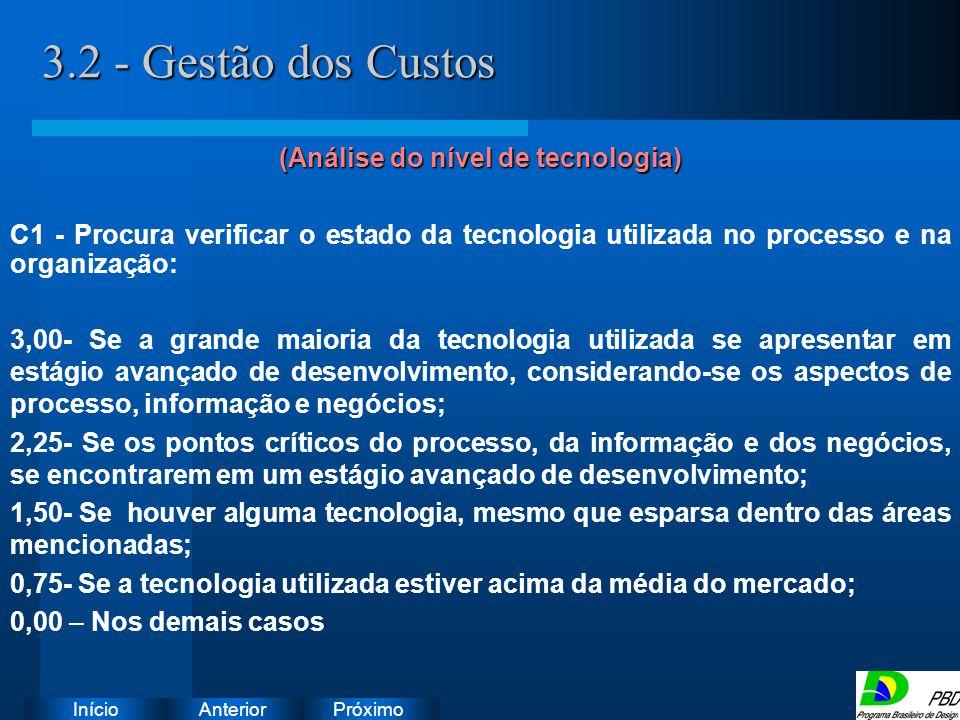 (Análise do nível de tecnologia)