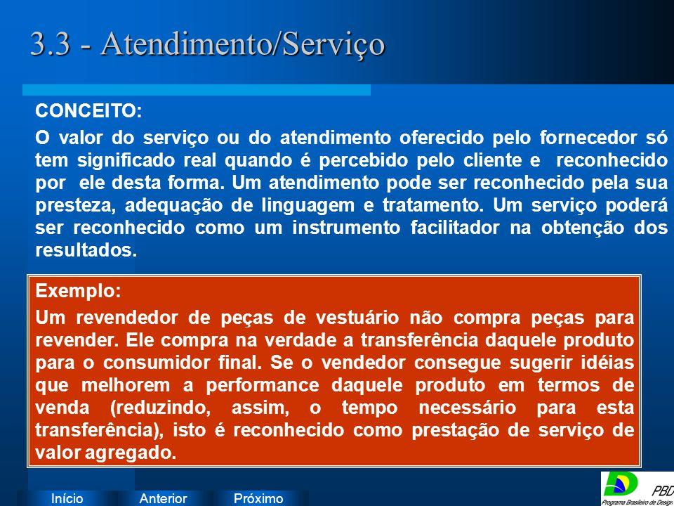 3.3 - Atendimento/Serviço