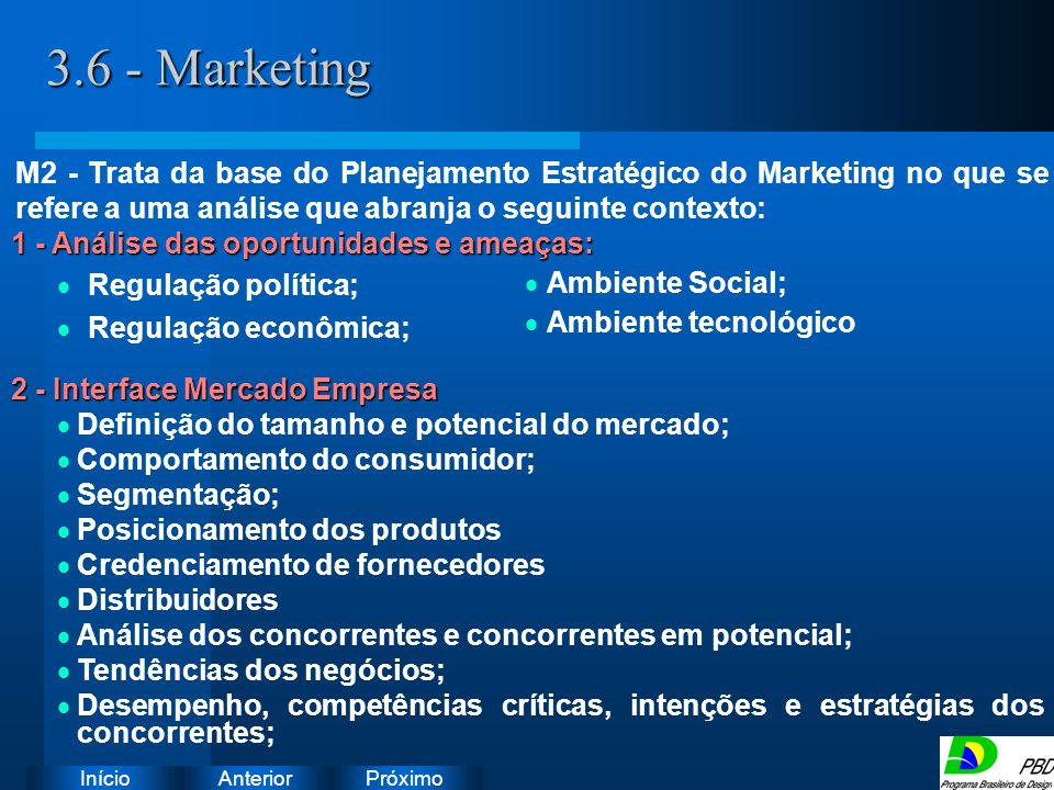 3.6 - Marketing Instruções: