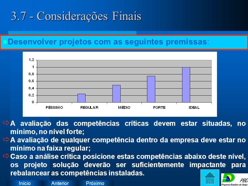 3.7 - Considerações Finais
