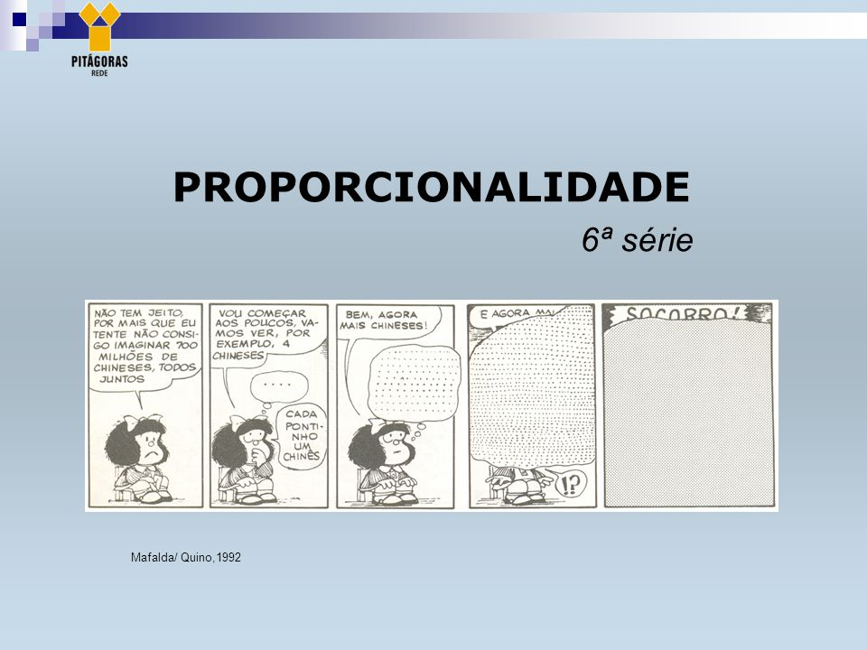 PROPORCIONALIDADE 6ª série