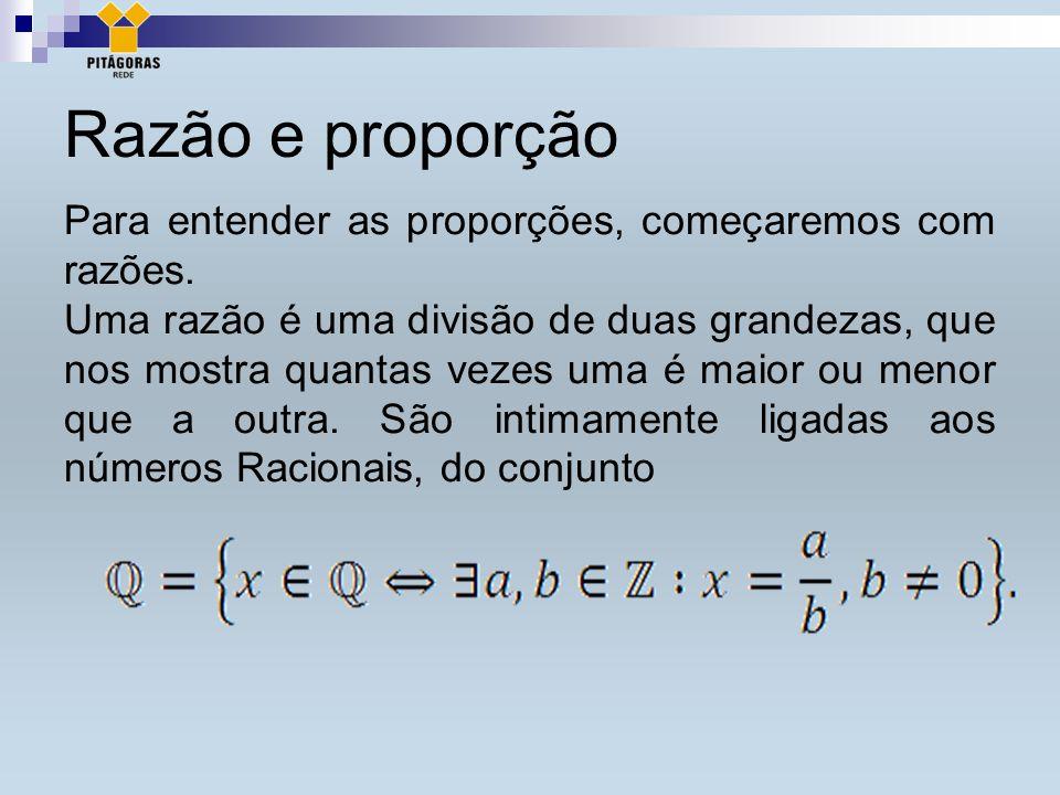 Razão e proporção Para entender as proporções, começaremos com razões.