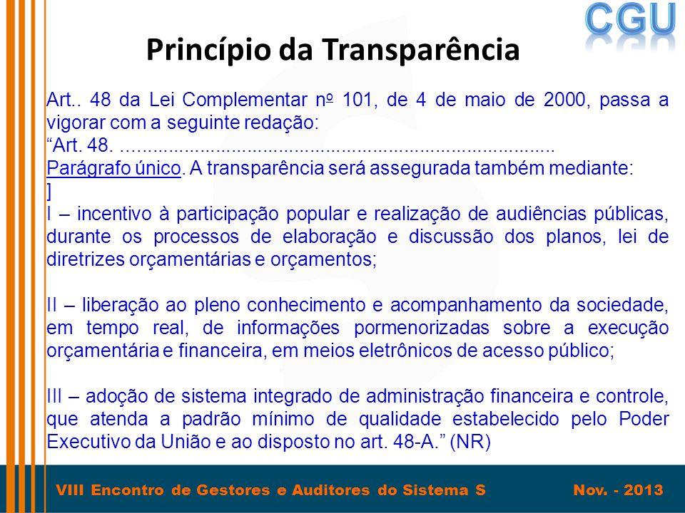 Princípio da Transparência