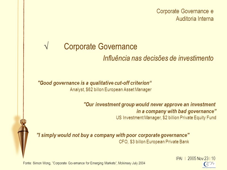Corporate Governance e Auditoria Interna