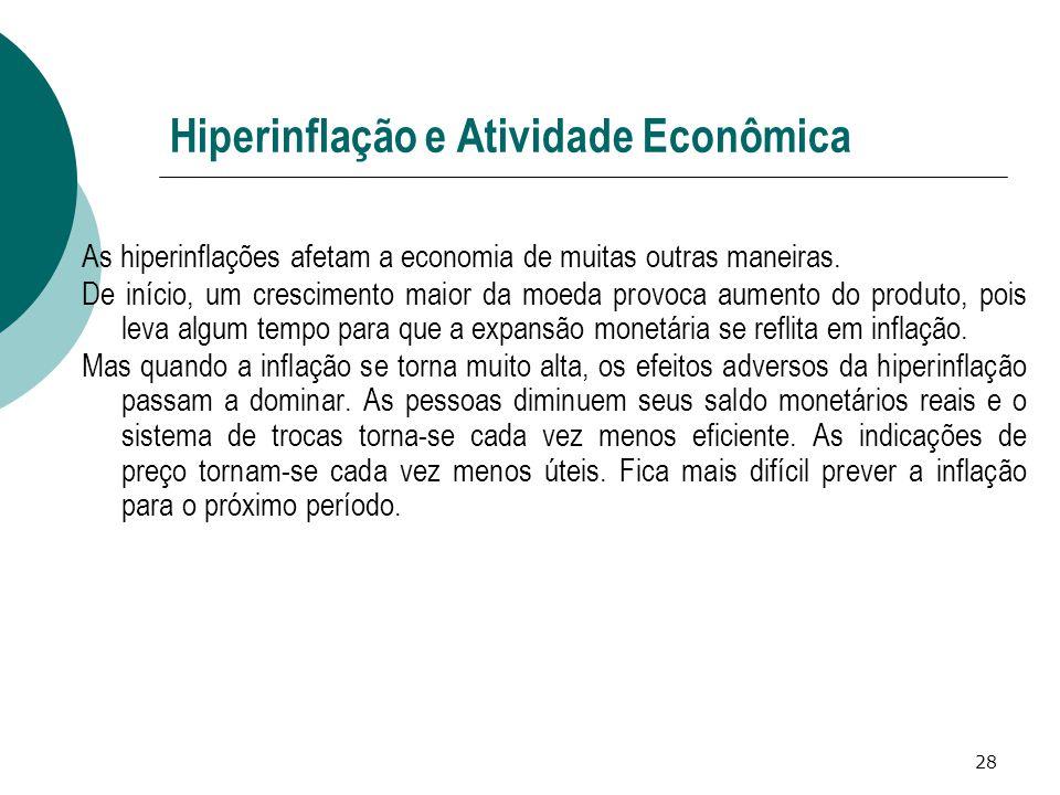 Hiperinflação e Atividade Econômica