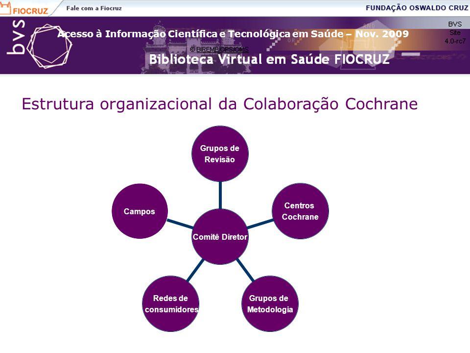 Estrutura organizacional da Colaboração Cochrane