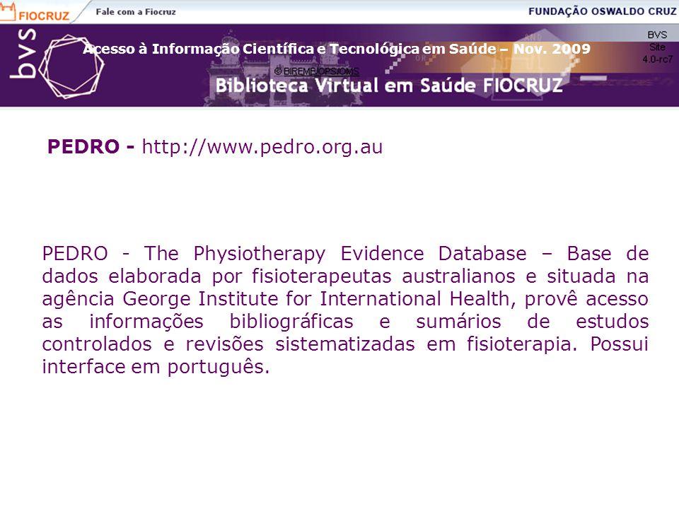 PEDRO - http://www.pedro.org.au