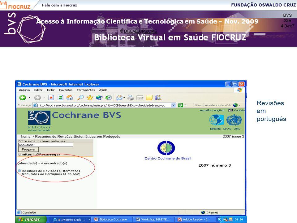 Revisões em português