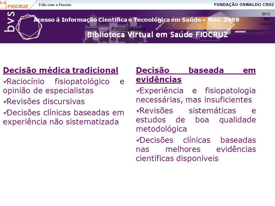 Decisão médica tradicional