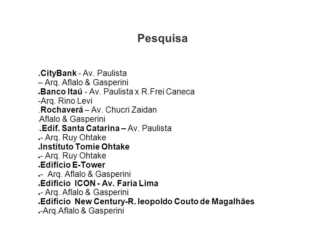 Pesquisa .CityBank - Av. Paulista – Arq. Aflalo & Gasperini