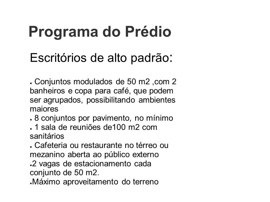 Programa do Prédio Escritórios de alto padrão: