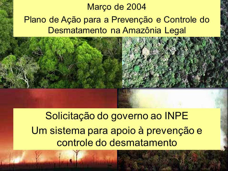 Solicitação do governo ao INPE