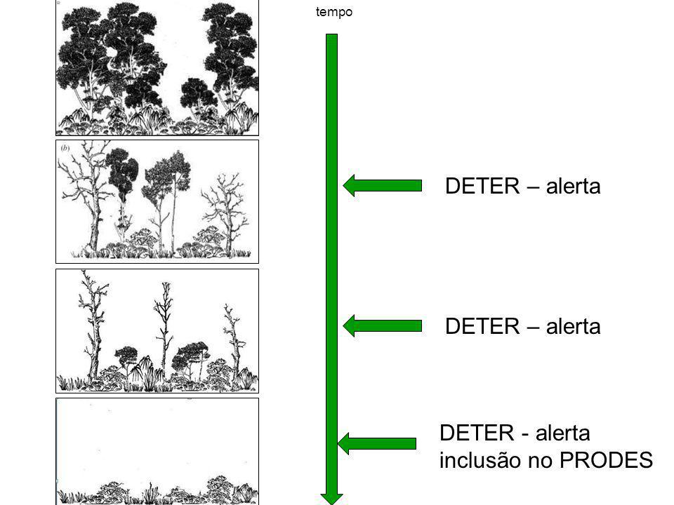 DETER – alerta DETER – alerta DETER - alerta inclusão no PRODES