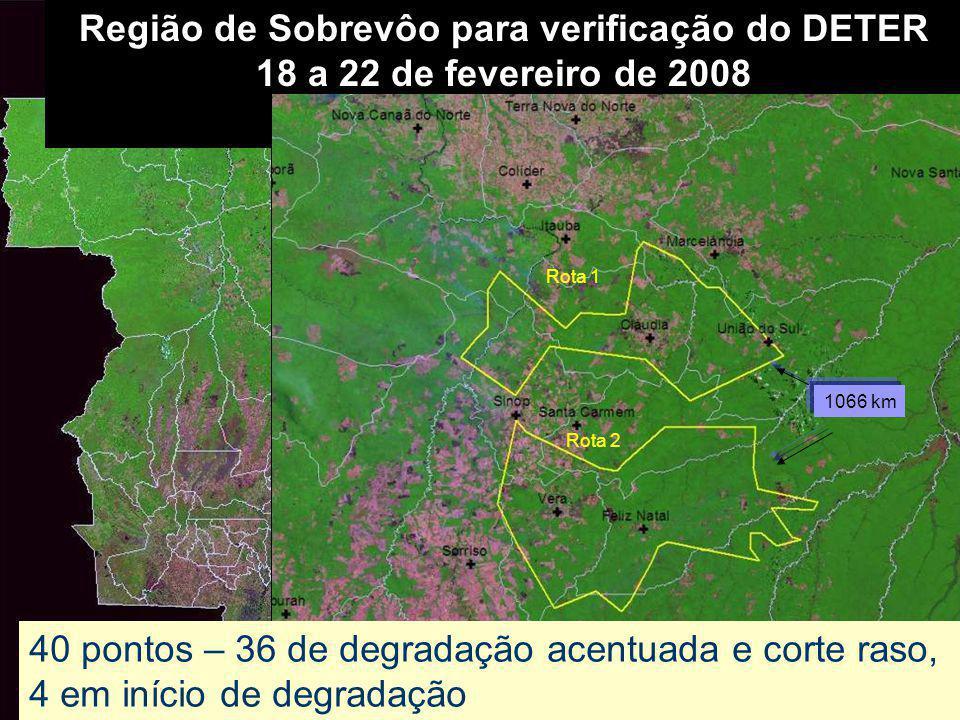 Região de Sobrevôo para verificação do DETER