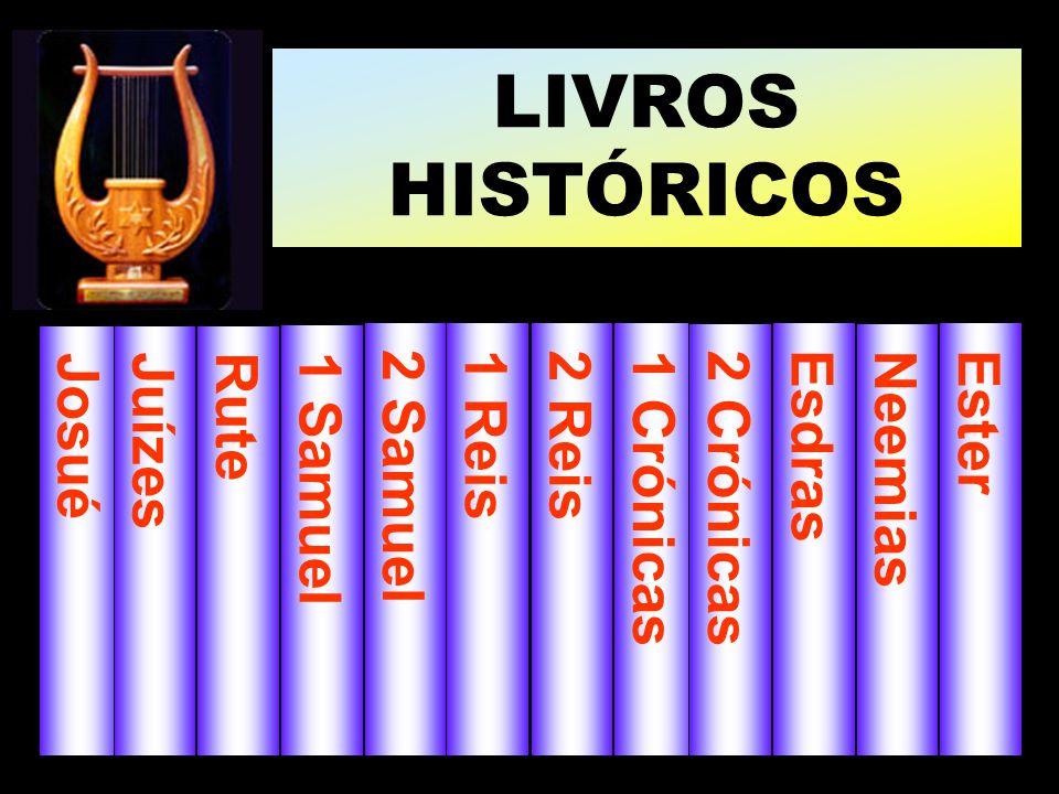 LIVROS HISTÓRICOS Josué Juízes 1 Samuel Rute 2 Samuel 1 Reis 2 Reis