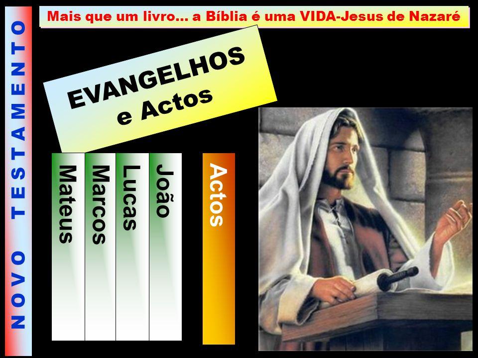 Mais que um livro… a Bíblia é uma VIDA-Jesus de Nazaré