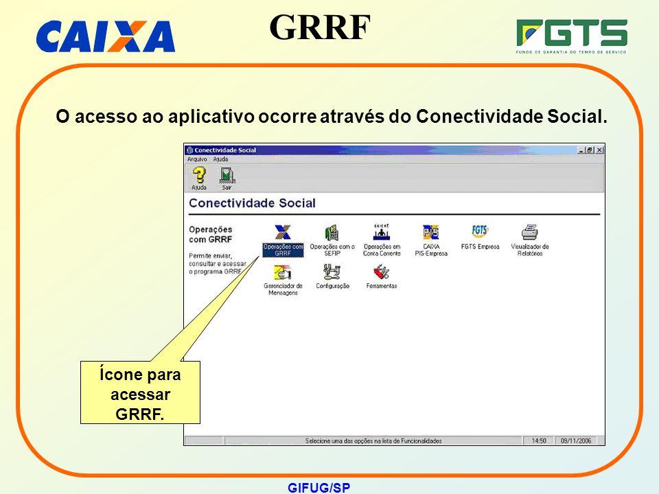 Ícone para acessar GRRF.