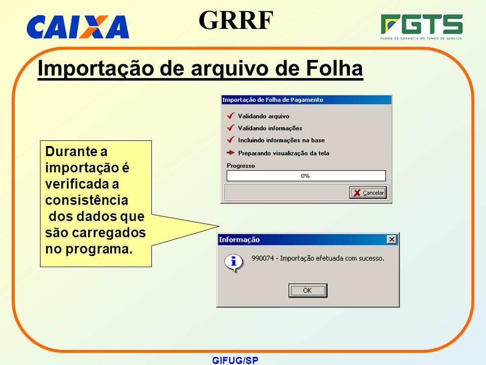 Importação de arquivo de Folha