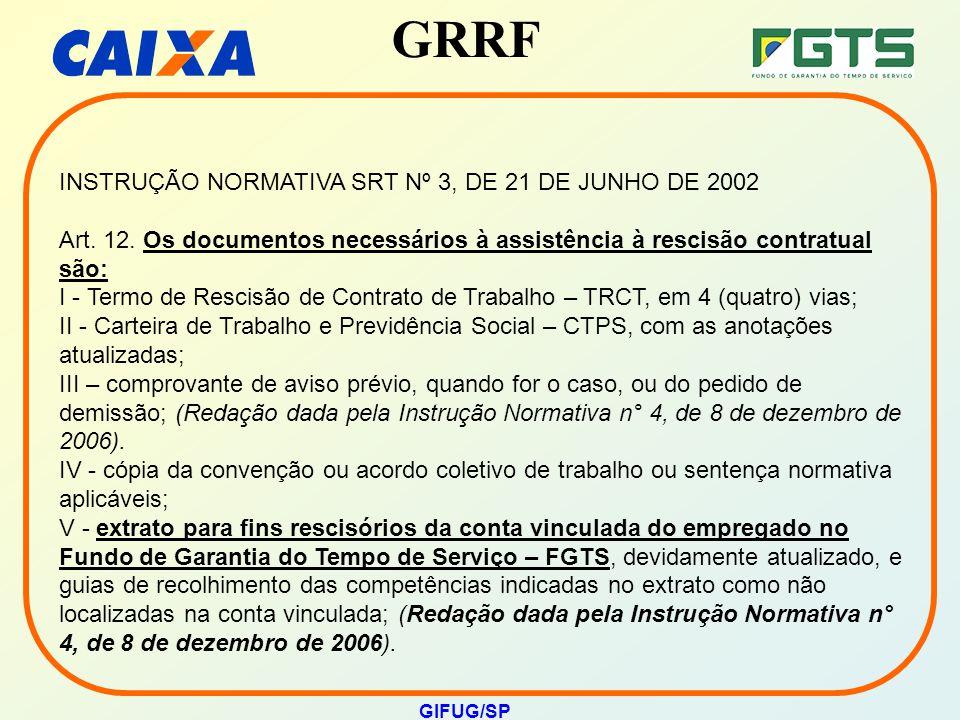 INSTRUÇÃO NORMATIVA SRT Nº 3, DE 21 DE JUNHO DE 2002