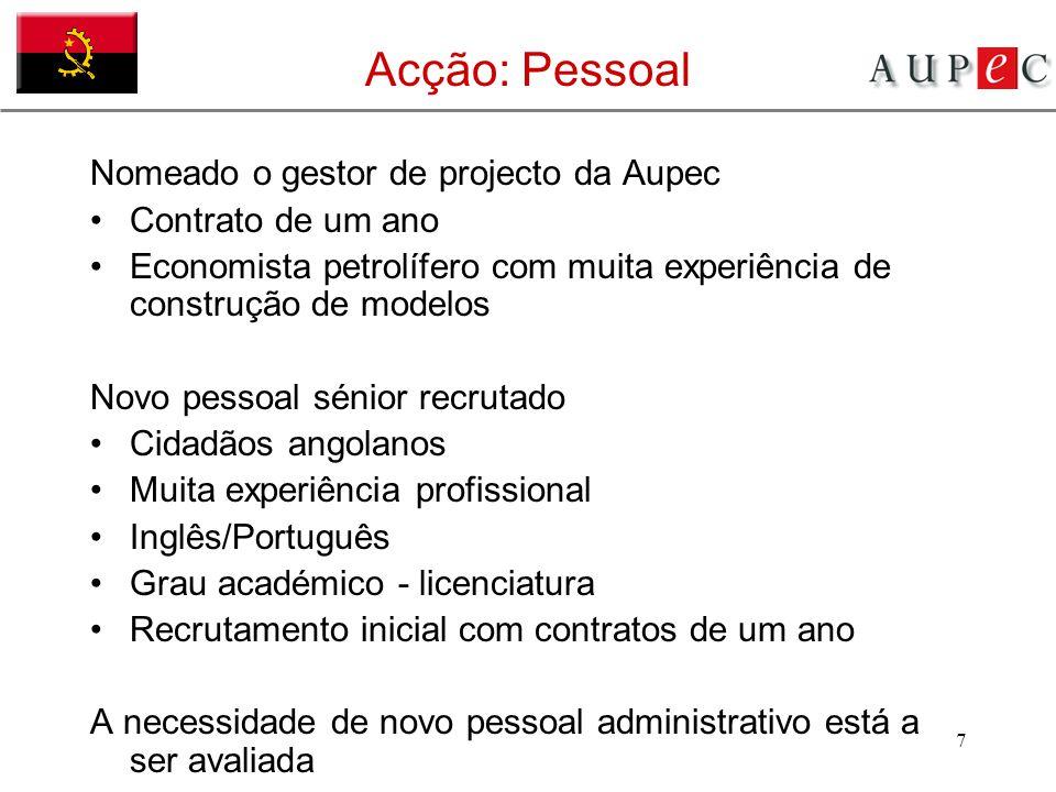 Acção: Pessoal Nomeado o gestor de projecto da Aupec