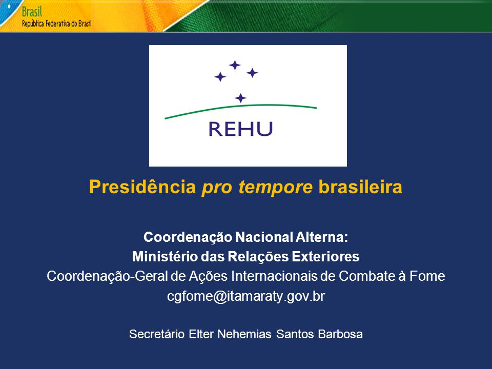 Presidência pro tempore brasileira