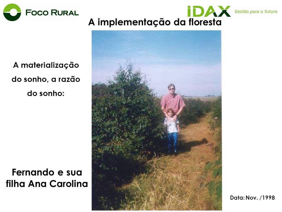 A implementação da floresta Fernando e sua filha Ana Carolina