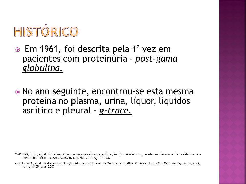 HISTÓRICO Em 1961, foi descrita pela 1ª vez em pacientes com proteinúria - post-gama globulina.