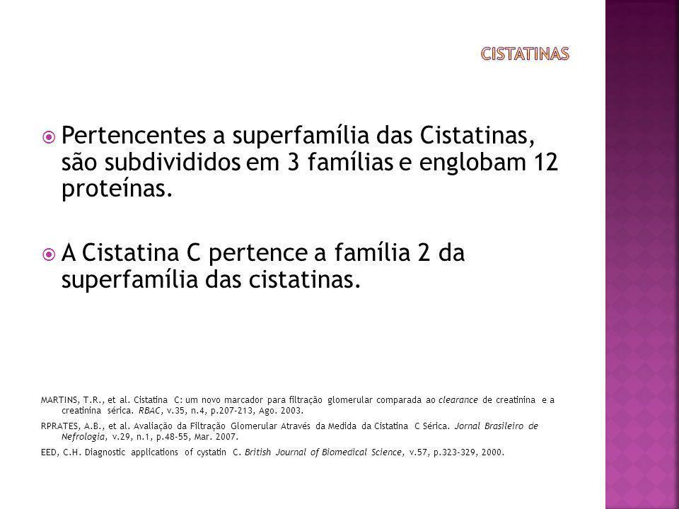 A Cistatina C pertence a família 2 da superfamília das cistatinas.