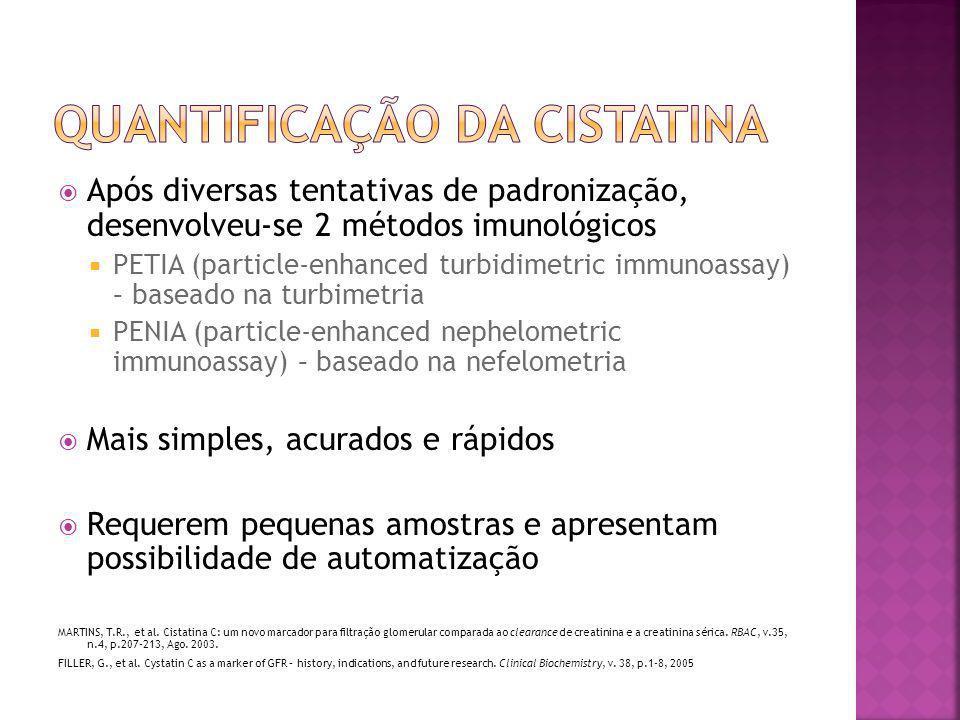 Quantificação da cistatina
