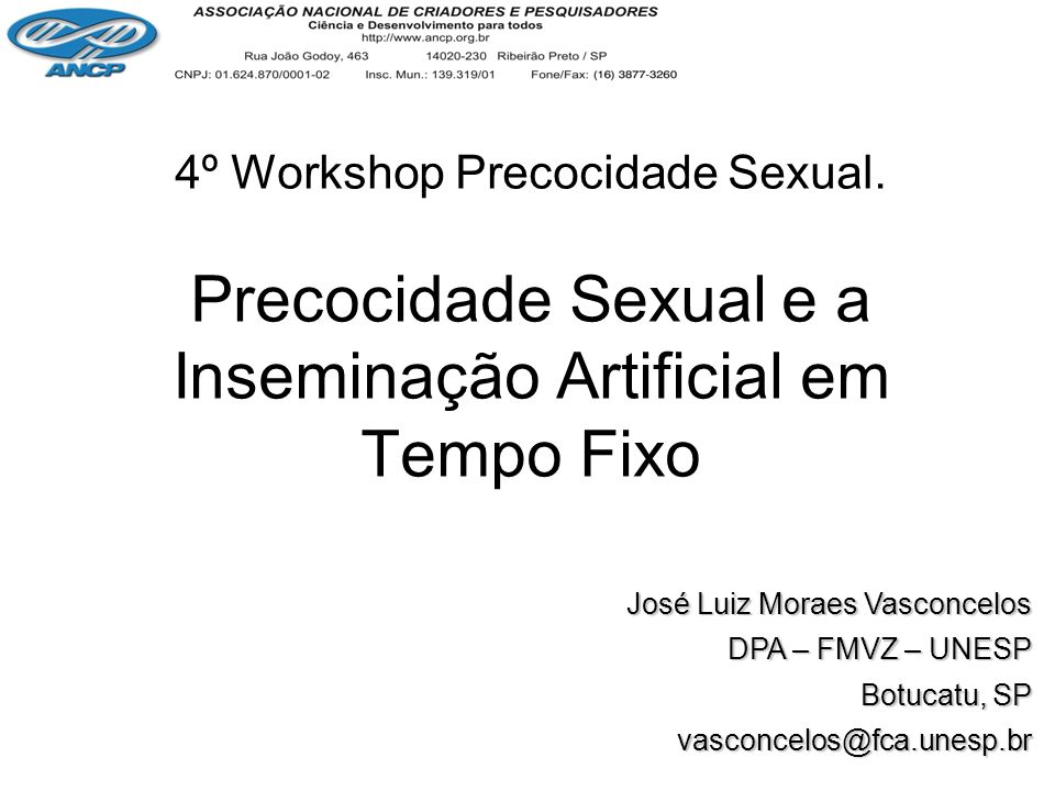 Precocidade Sexual e a Inseminação Artificial em Tempo Fixo