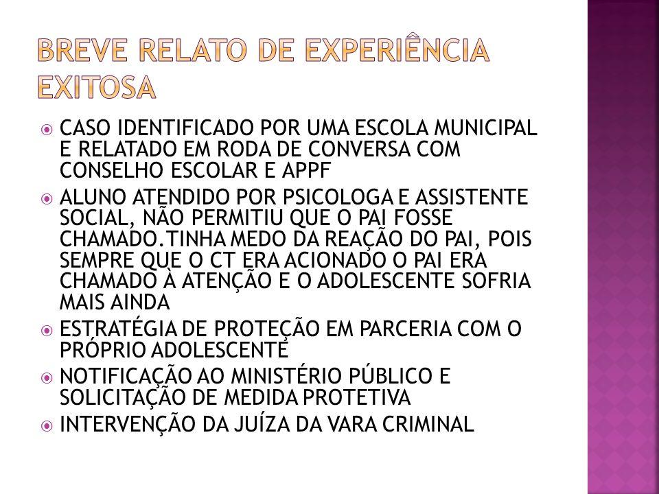 BREVE RELATO DE EXPERIÊNCIA EXITOSA