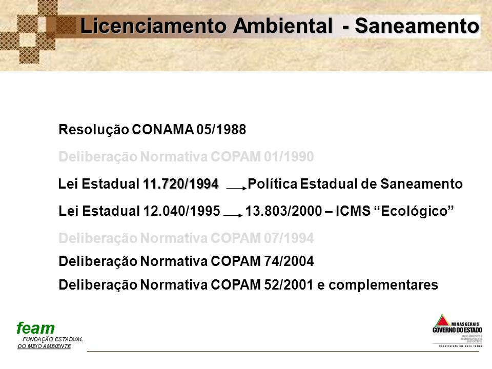 Deliberação Normativa COPAM 01/1990